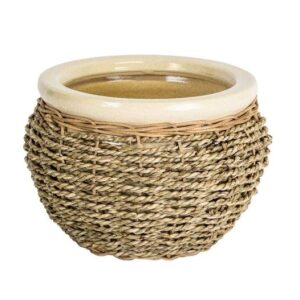 Seagrass Lined Basket Natural 30cm