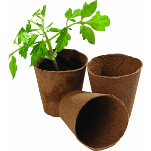 Round Fibre Pots Extra Value Pack 48 pack 8cm
