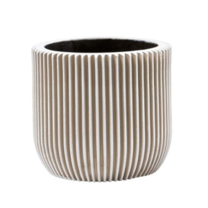 Groove Planter Ball Ivory 13cm