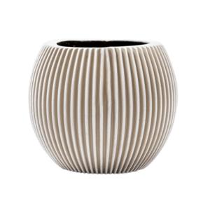Groove Vase Ball Ivory 19cm