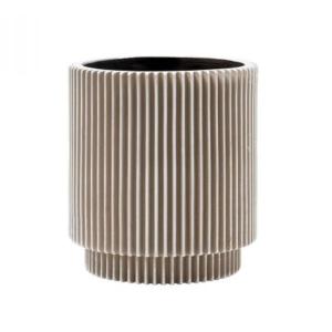 Groove Vase Cylinder Ivory 21cm