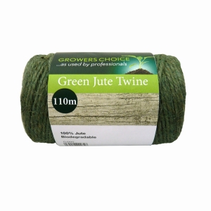 Spool Biodegradable Jute Twine Green 200g, 110m