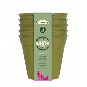 5 Bamboo Pot 5Pk Sage Green