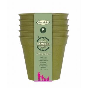 5 Bamboo Pot 5Pk Sage Green