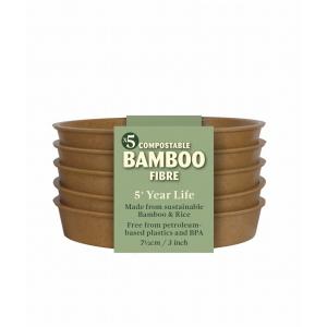 Bamboo Saucer Terracotta Pk5