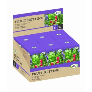 Smart Garden Fruit Netting, 25mm Black Mesh, 4m x 10m
