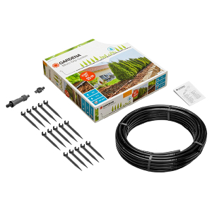 Above Ground Drip Irrigation for rows of plants starter set M