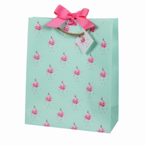 Pretty Pink Flamingo Gift Bag Large