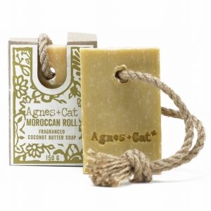 Agnes+Cat Soap On A Rope Moroccan Roll 150g