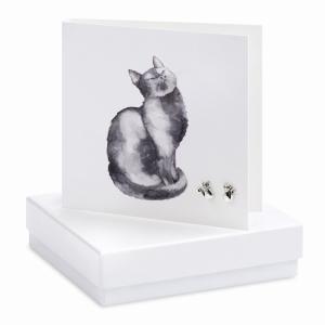 Earrings Black Cat