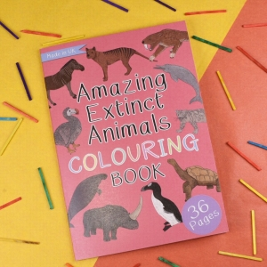Amazing Extinct Animals Colouring Book