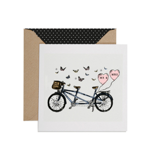 Apple & Clover Mr & Mrs Wedding Card
