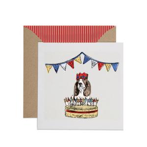 Apple & Clover Dog Birthday Card
