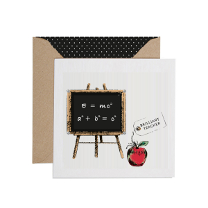 Apple & Clover Brilliant Teacher Card