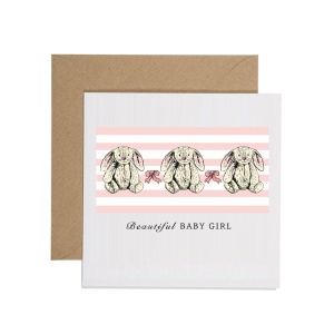 Apple & Clover Baby Girl Card