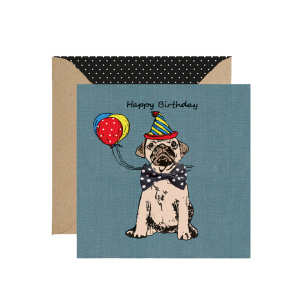 Apple & Clover Dog Birthday Card