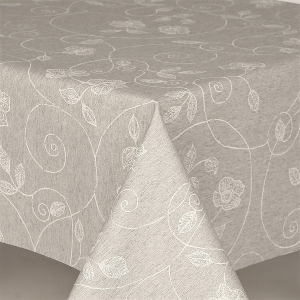 Table Cloth Glam Stencil Leaf 137cm Round