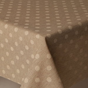 Table Cloth Mirha Polka Beige