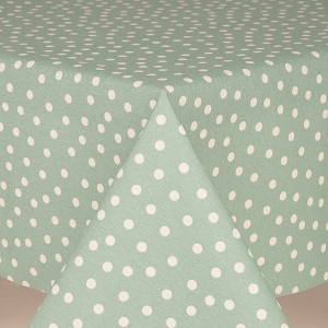 Table Cloth By The Metre Fantasy Dot Duck Egg
