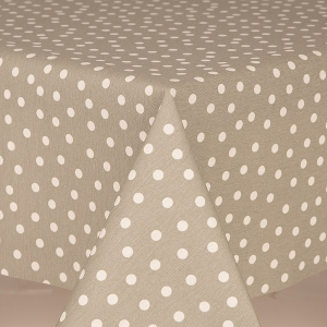 Table Cloth Loneta Fantasy Dots Grey