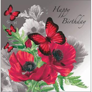 Angela Faulkner Glitter Bugs 16 cm x 16 cm Birthday Card Poppy