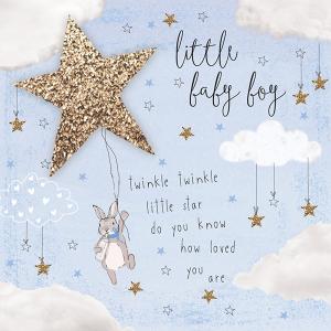 Twinkle Twinkle Baby Boy card