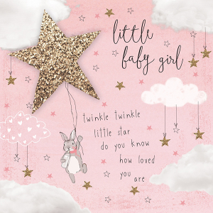 Twinkle Twinkle Baby Girl Card