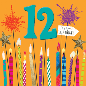 Age 12 Candles