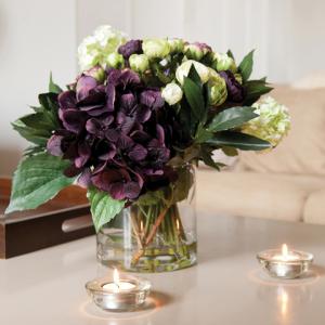 Amethyst Mix In Wide Cylinder Vase Purple