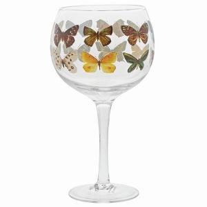 Butterfly Copa Glass