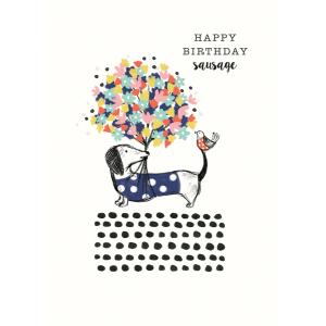 Frank Happy Birthday Sausage Flowers