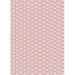 Flat Wrap Pink Multi Hearts