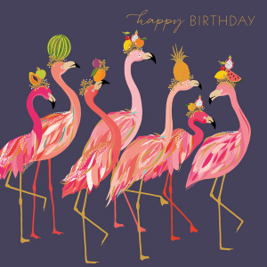 Sara Miller Happy Birthday Flamingo