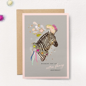 Curiosities Extra Fancy Birthday Zebra