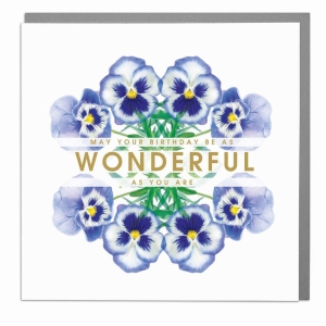Have a Wonderful Birthday floral greeting card by Lola Design