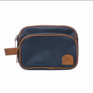 Navy And Tan Bee Travel Bag