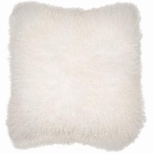 Cushion Mongolian Lamb White