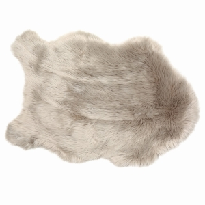 Rug Sheepskin Faux Fur Taupe