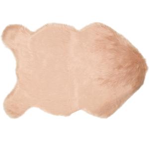 Rug Sheepskin Faux Fur Pink