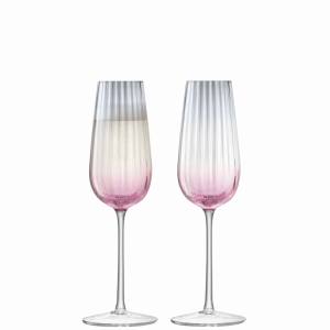 LSA Dusk Champagne Flute Pink+Grey 2Pk