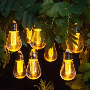 Noma Edison Style Bulb Light String With 10