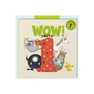 Wow Youre 1 (One) Birthday Card Book