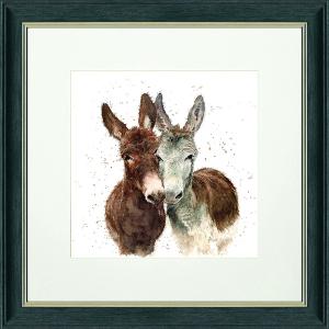 Jack And Diane Framed Sq Print Charcoal