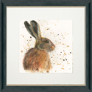 Hermione Framed Square Print Charcoal