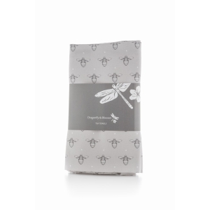 Dragonfly and Blossom Bee Teatowel