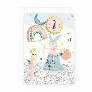 Hotchpotch Kids Sticker Card Age 2 Girl