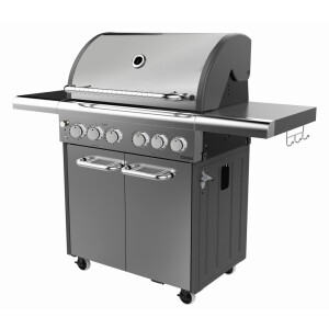 Thor Premium 4 Burner Gas Bbq S-Steel with Side Burner