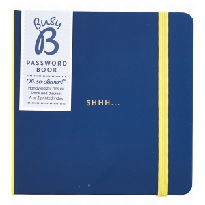 Busy B Password Book Navy