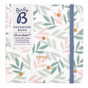 Busy B Password Book Breezy Blossoms