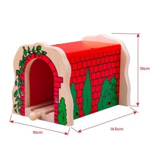 Train Brick Tunnel Red